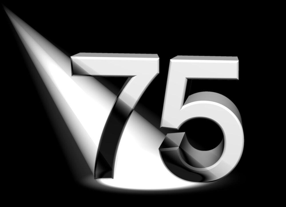 Number 75 Sign